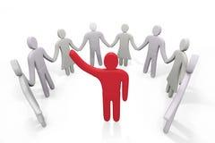 Человек стоит среди других людей Стоковое Изображение RF