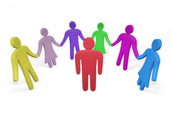 Человек стоя среди друзей или коллег Стоковые Изображения RF