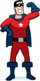 Человек супергероя шаржа Стоковое Фото