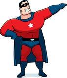 Человек супергероя шаржа Стоковая Фотография