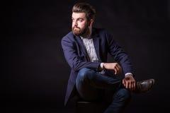 Человек с бородой, портретом цвета Стоковая Фотография RF