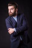 Человек с бородой, портретом цвета Стоковые Фотографии RF