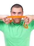 Человек с веревочкой Стоковые Изображения RF