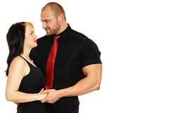 Человек с его девушкой Стоковое Фото