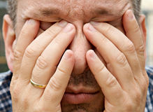 Утомленный человек Стоковое Изображение RF