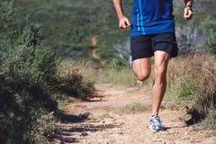 Человек следа фитнеса стоковая фотография rf