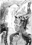 Человек с животными Стоковое Изображение RF