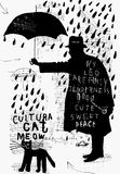 Человек с зонтиком бесплатная иллюстрация