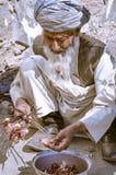 Человек с длинной бородой в Таджикистане Стоковые Фото