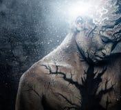 Человек с искусством тела Стоковая Фотография