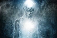Человек с искусством тела Стоковое Изображение RF