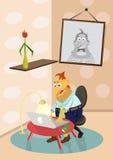Человек с компьтер-книжкой Стоковые Изображения