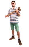 Человек с молотком Стоковое Изображение RF