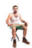 Человек с молотком Стоковое Изображение