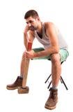 Человек с молотком Стоковые Фото