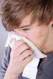 Человек с носовым платком Стоковые Изображения RF