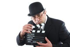 Человек с нумератором с хлопушкой Стоковые Фото