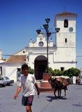 Человек с ослом в Monda Стоковое фото RF