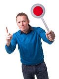 Человек с сигналом Стоковая Фотография RF
