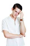 Человек с сотрясенным выражением лица стоковое изображение