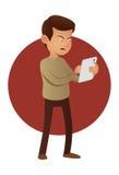Человек с таблеткой бесплатная иллюстрация