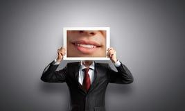 Человек с фото Стоковое Изображение RF