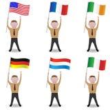 Человек с флагом Стоковое Изображение RF