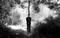 Человек с черной шляпой Стоковая Фотография