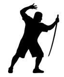 Человек с bokken Стоковые Фото