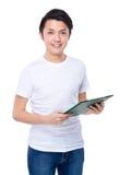 Человек с clipboard Стоковое Изображение