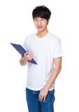 Человек с clipboard Стоковая Фотография