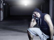 Человек с hoodie Стоковые Фотографии RF