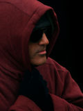 Человек с hoody Стоковое Изображение RF