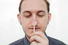 Человек с Lollypop Стоковое Фото