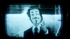 Человек с v для маски вендетты видеоматериал