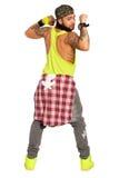 Человек танцора сальсы Zumba На белизне, PNG доступное стоковые фотографии rf