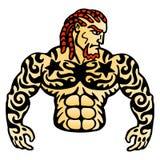 Человек татуировки Стоковая Фотография