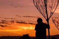 Человек тени Стоковые Изображения RF