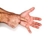 Человек указывает его палец Стоковые Фото