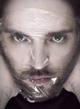 Человек душа с пластмассой Стоковое Изображение