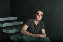 Человек фотографии студии зверский Стоковая Фотография