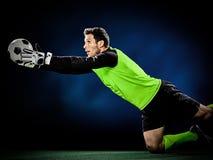 Человек футбола голкипера Стоковые Фотографии RF