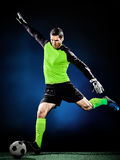 Человек футбола голкипера Стоковая Фотография RF