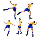 Человек футболиста футбола стоковые изображения