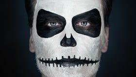 Человек черепа хеллоуина Стоковое Изображение RF