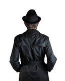 человек черной шляпы стоковое фото rf