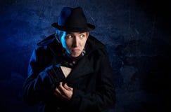 человек черной шляпы стоковая фотография rf