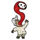 человек шаржа обладаемый демоном Стоковое Изображение