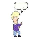 человек шаржа показывать одичало с пузырем речи бесплатная иллюстрация