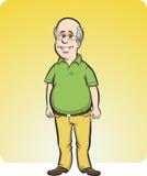 Человек шаржа усмехаясь облыселый иллюстрация штока